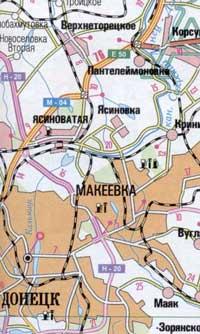 Карты городов Украины
