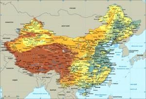 Карта Китая - подробная, на русском языке №2