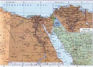 Подробная карта Египта