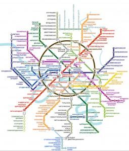 Подробная схема московского метро