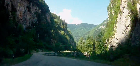 Дорога к озеру Рица