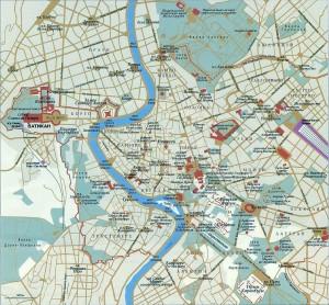 Карта Рима на русском языке: центральная часть города