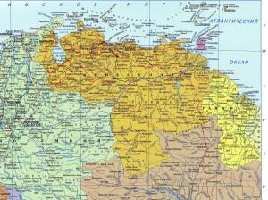 Карта Венесуэлы на русском языке