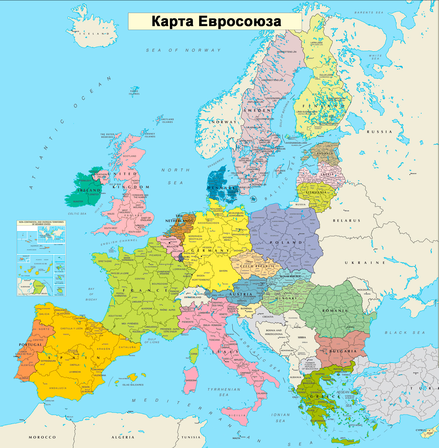 Страны входящие в евросоюз список по