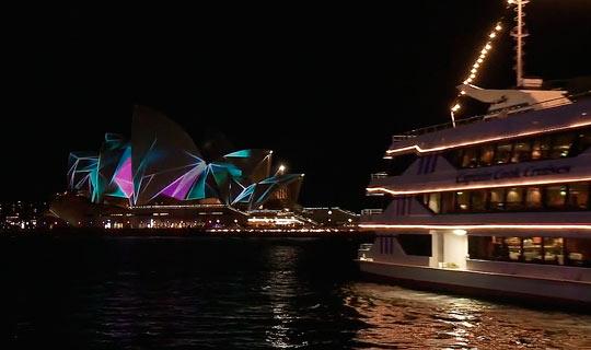 Ночной вид Сиднейского оперного театра