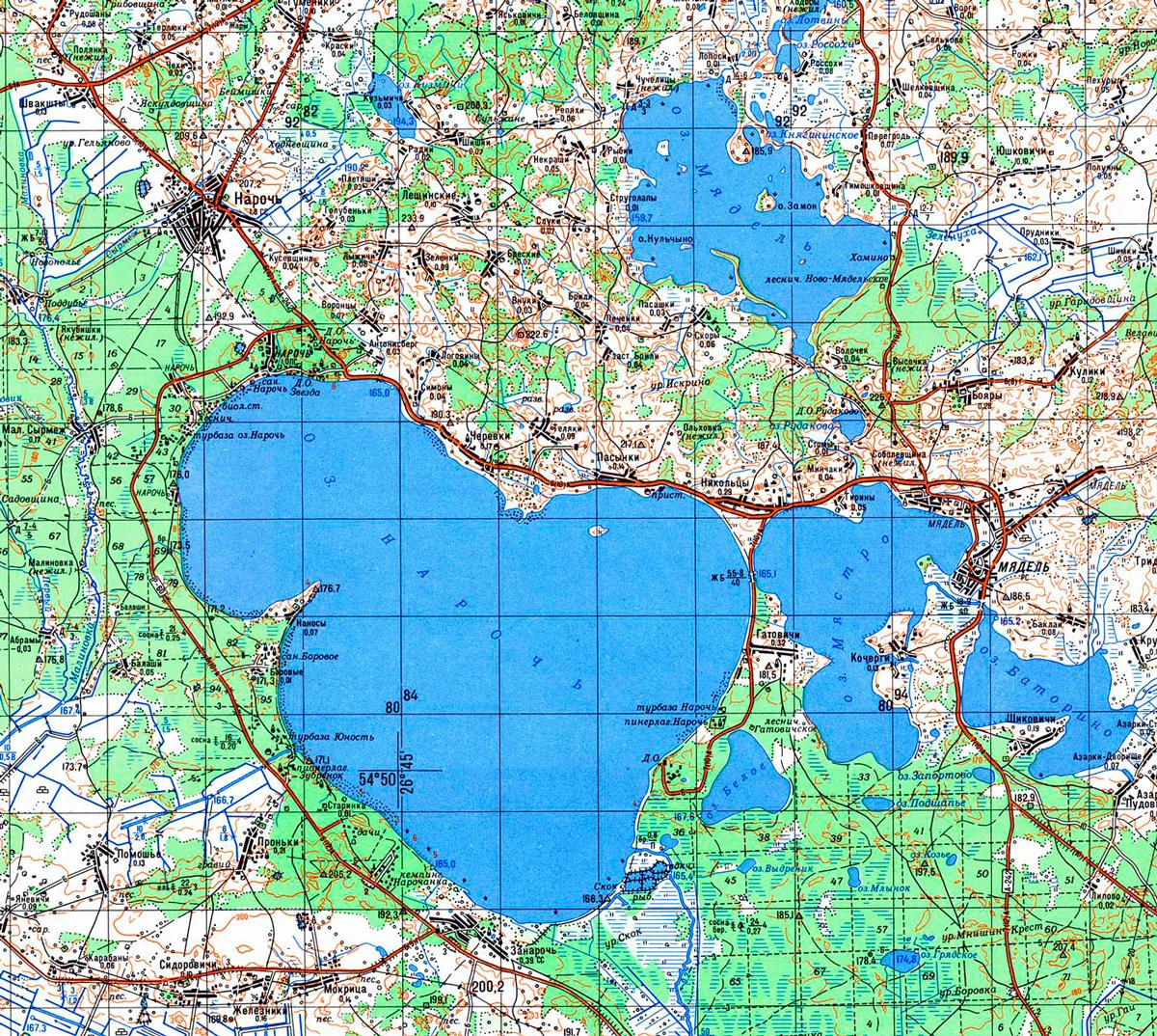 Озеро Нарочь карта
