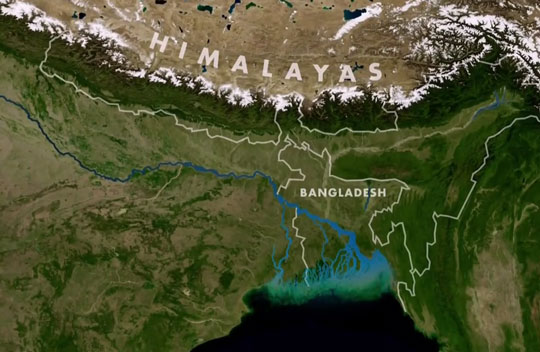 Ганг пролегает через Индию и Бангладеш