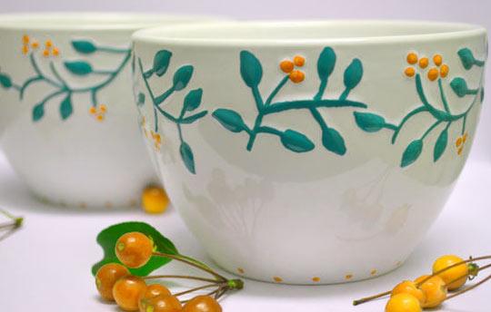 Фарфоровые и керамические изделия с ручной росписью