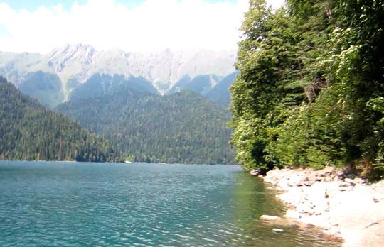 Озеро Рица 7