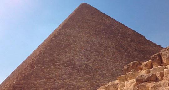 Пирамида Хеопса вблизи