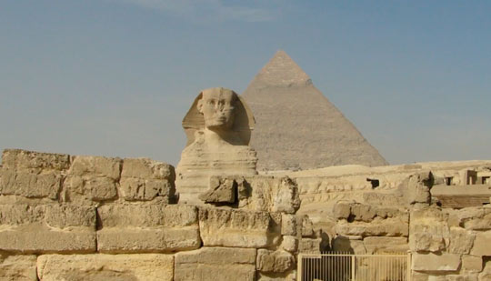 Сфинкс возле Пирамид