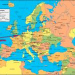 Антверпен на карте Европы