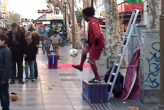 Здесь любят собираться болельщики футбольного клуба «Барселона»