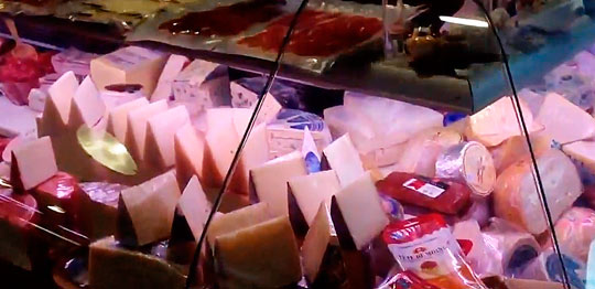 Сырные прилавки