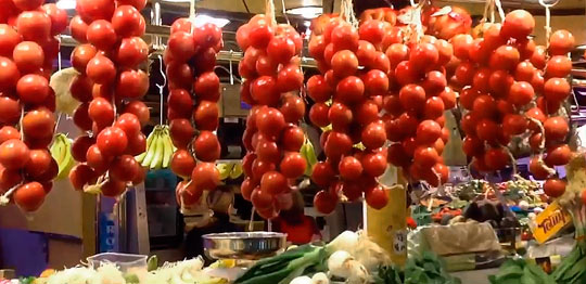 Овощные прилавки
