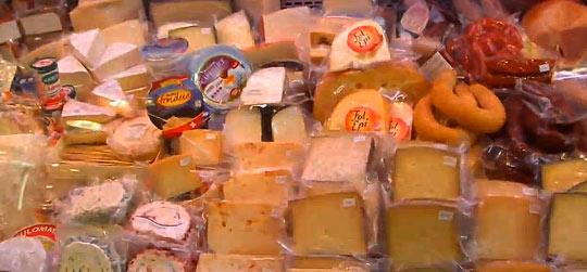 Сырные ряды рынка Бокерия