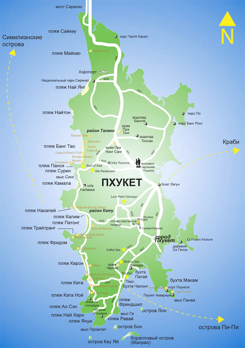 Карта острова Пхукет